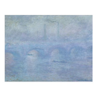 Waterloo Bridge: Effect of the Mist, 1903 Postcard