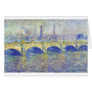 Waterloo Bridge, Effect of the Sun by Claude Monet Card
