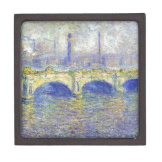 Waterloo Bridge, Effect of the Sun by Claude Monet Jewelry Box