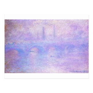 Waterloo Bridge, Fog by Claude Monet Postcard