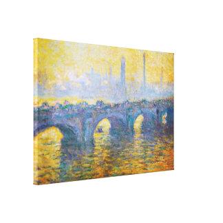 Waterloo Bridge, Gray Weather, 1900 Claude Monet Canvas Print
