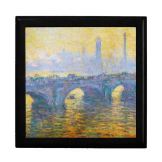 Waterloo Bridge, Gray Weather, 1900 Claude Monet Trinket Boxes