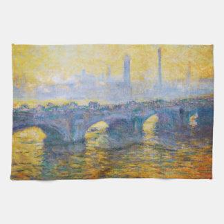 Waterloo Bridge, Gray Weather, 1900 Claude Monet Hand Towels