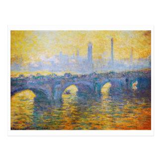 Waterloo Bridge, Gray Weather, 1900 Claude Monet Postcard