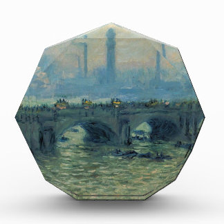 Waterloo Bridge, Grey Weather by Claude Monet Acrylic Award