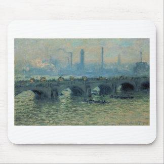 Waterloo Bridge, Grey Weather by Claude Monet Mouse Pad
