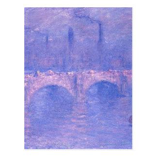 Waterloo Bridge, Hazy Sunshine by Claude Monet Postcard