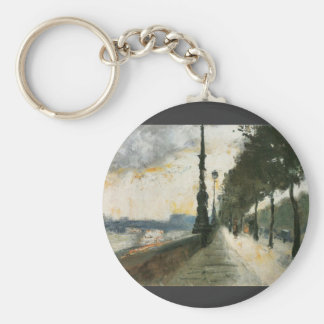 Waterloo Bridge in the Sun by Lesser Ury Keychains