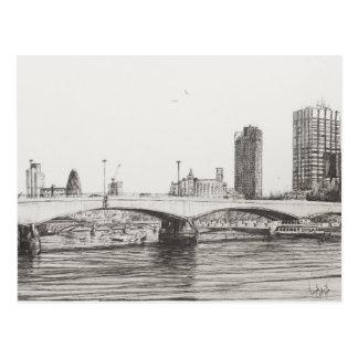 Waterloo Bridge London. 31/10/2006 Postcard