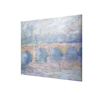 Waterloo Bridge, London, at Sunset, 1904 Canvas Print