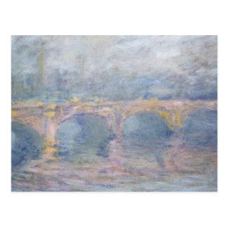 Waterloo Bridge, London, at Sunset, 1904 Postcard