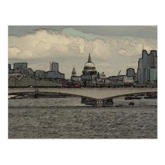 Waterloo Bridge, London Postcard