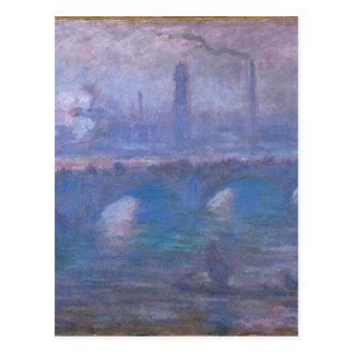 Waterloo Bridge, Misty Morning by Claude Monet Postcard