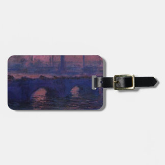 Waterloo Bridge, Overcast Weather by Claude Monet Bag Tag