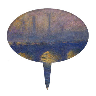 Waterloo Bridge, Overcast Weather by Claude Monet Cake Topper