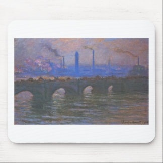Waterloo Bridge, Overcast Weather by Claude Monet Mouse Pad