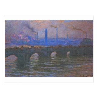 Waterloo Bridge, Overcast Weather by Claude Monet Postcard
