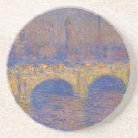 Waterloo Bridge, Sunlight Effect by Claude Monet Drink Coaster