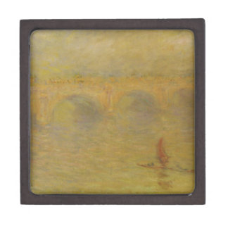Waterloo Bridge, Sunlight Effect by Claude Monet Jewelry Box