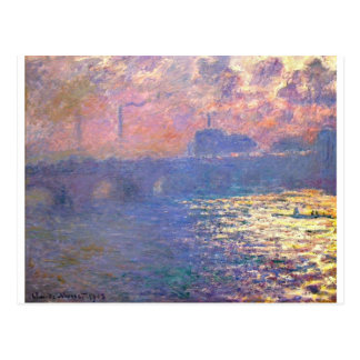 Waterloo Bridge, Sunlight Effect by Claude Monet Postcard