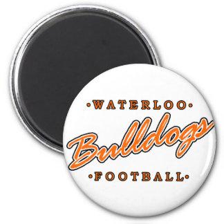 Waterloo Bulldogs Football Magnet