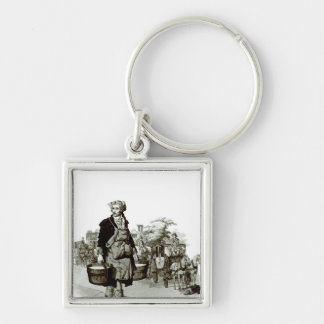 Waterman at a Coach Stand, 1805 Keychain
