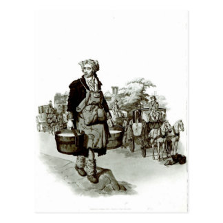 Waterman at a Coach Stand, 1805 Postcard