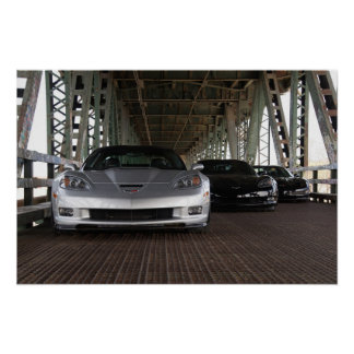 Watermark-free poster - ZR1 and 2 Z06 Corvettes