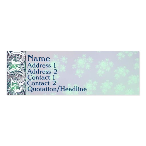 Watermark profile cards double sided mini business cards for Watermark business cards