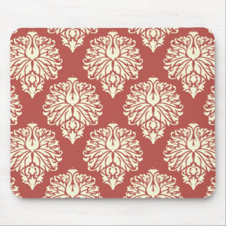 Watermellon Southern Cottage Damask Mouse Pad