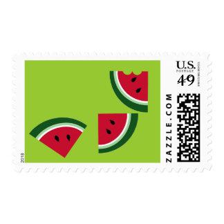 watermelon 3 slices postage