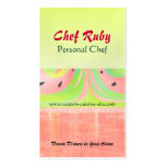Watermelon Abstract Personal Chef Business Card