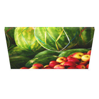 Watermelon and Apples Stretched Canvas Prints