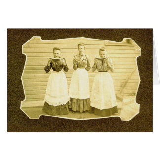 Watermelon and Aprons Vintage Notecard Greeting Cards