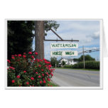 Watermelon and Horse Wash Sign (horizontal) Stationery Note Card