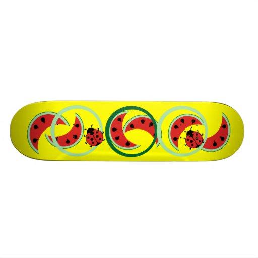 Watermelon and Ladybugs Skateboard