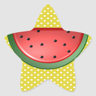 Watermelon and Polks Dots Star Sticker