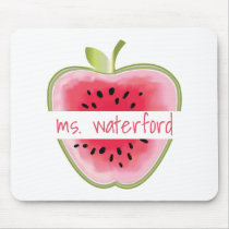 Watermelon Apple Personalized Teacher Mouse Pad