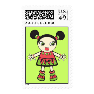 Watermelon baby postage stamps