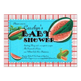 Watermelon Baby Shower Invitation