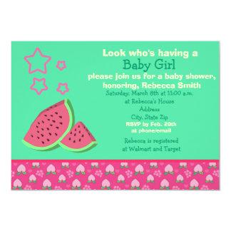 "Watermelon Baby Shower Invites 5"" X 7"" Invitation Card"