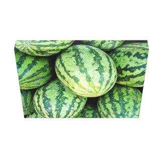 Watermelon Backdrop Canvas Print