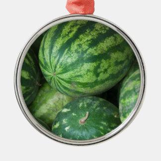 Watermelon background metal ornament