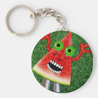 Watermelon Basic Round Button Keychain