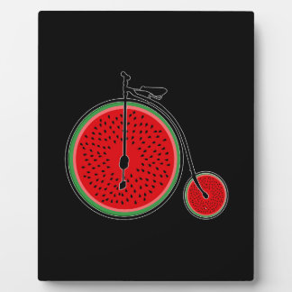 Watermelon bicycle plaque