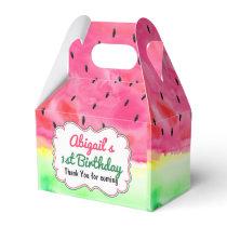 Watermelon  Birthday Favor Box Personalized