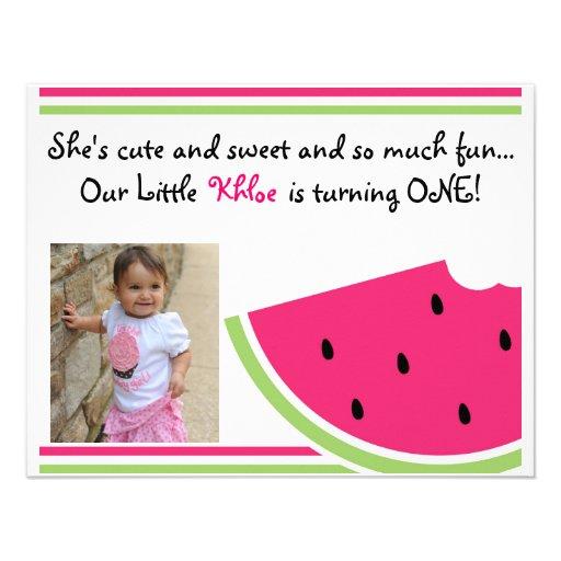 Watermelon Birthday Invite