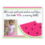 """Watermelon Birthday Invite 4.25"""" X 5.5"""" Invitation Card"""