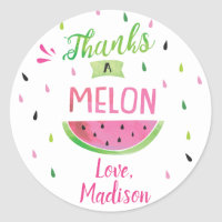 Watermelon Birthday Party Stickers , Favor tags