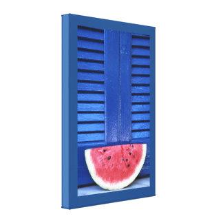 Watermelon blue canvas print